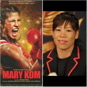 Movie poster (left)Mary Kom (right)